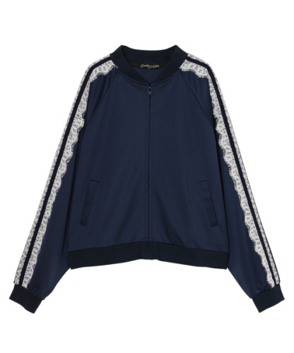 SIDE LACE DECORATED JERSEY BLOUSON