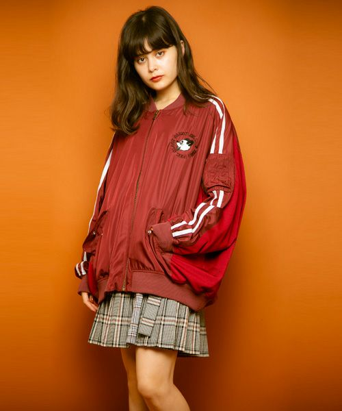 FEEL SLACK CANDY SWITCHED BLOUSON