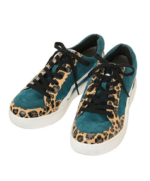 LEOPARD SWITCHED SNEAKERS