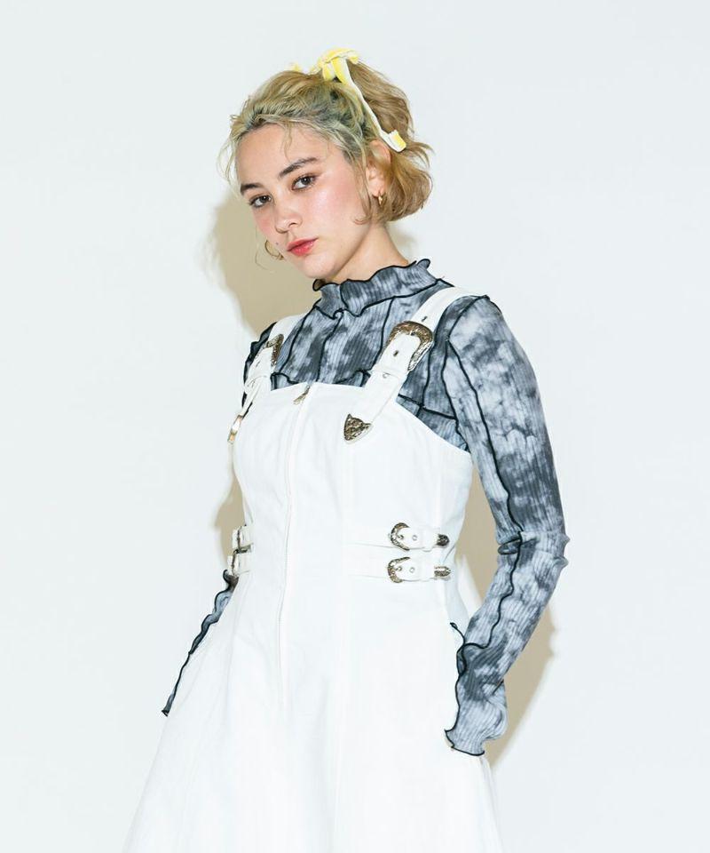 W BELTED DRESS