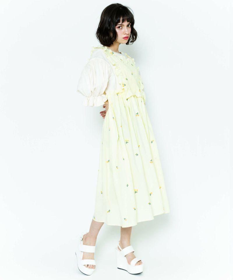 FLORAL APRON DRESS
